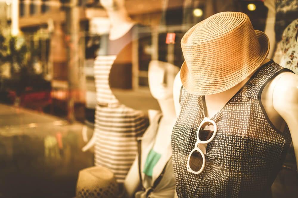 vitrine de varejo de roupas