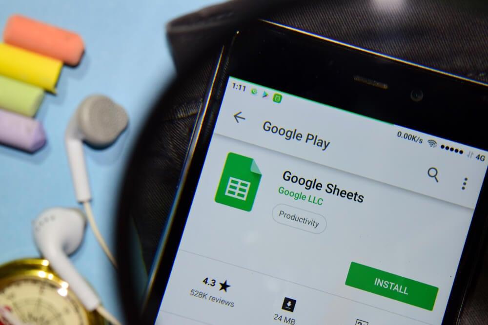 aplicativo google planilha mobile