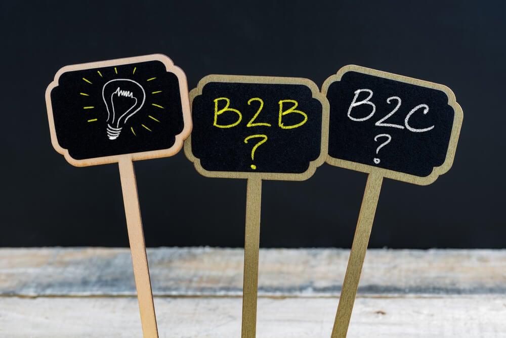 comparação dos mercado B2B E B2C
