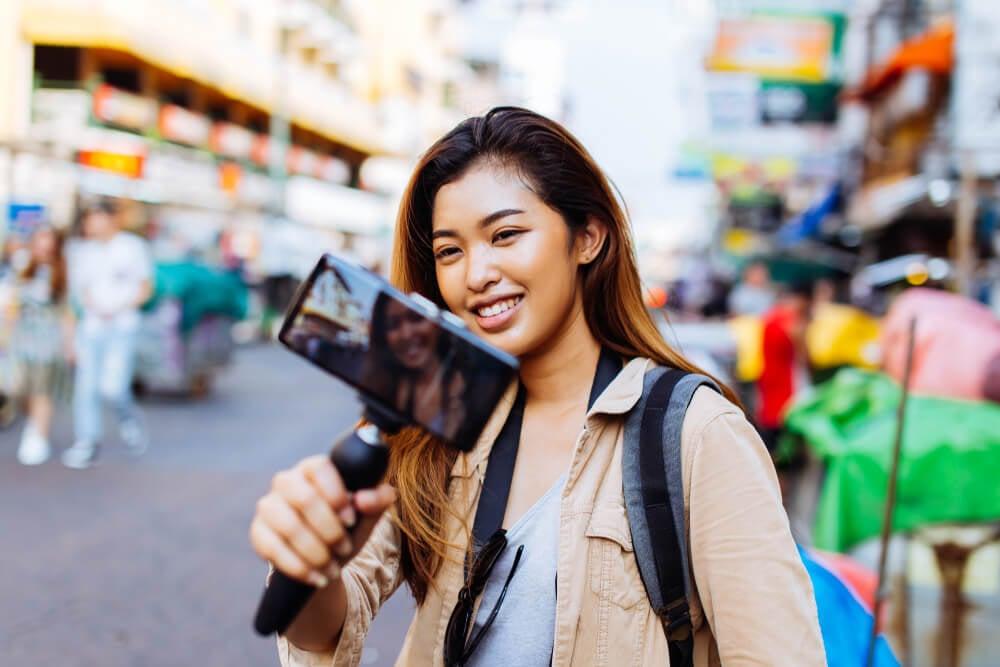 criação de vídeos de viagens