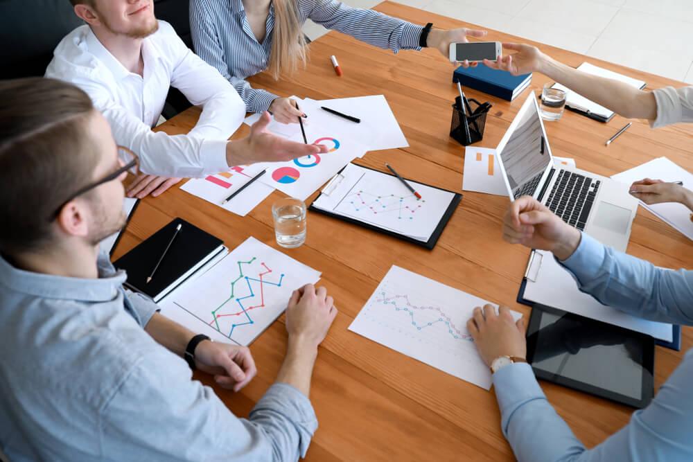 equipe de planejamento empresarial