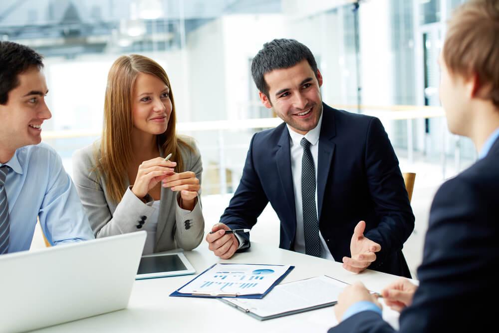 equipe empresarial em planejamento estratégico