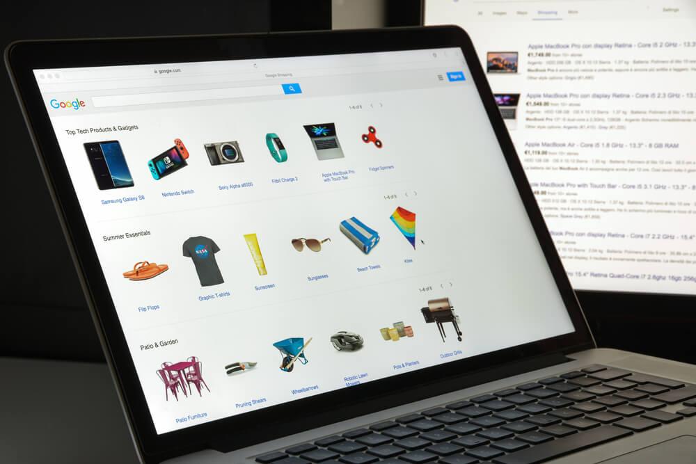 google shopping como exemplo de canal de vendas