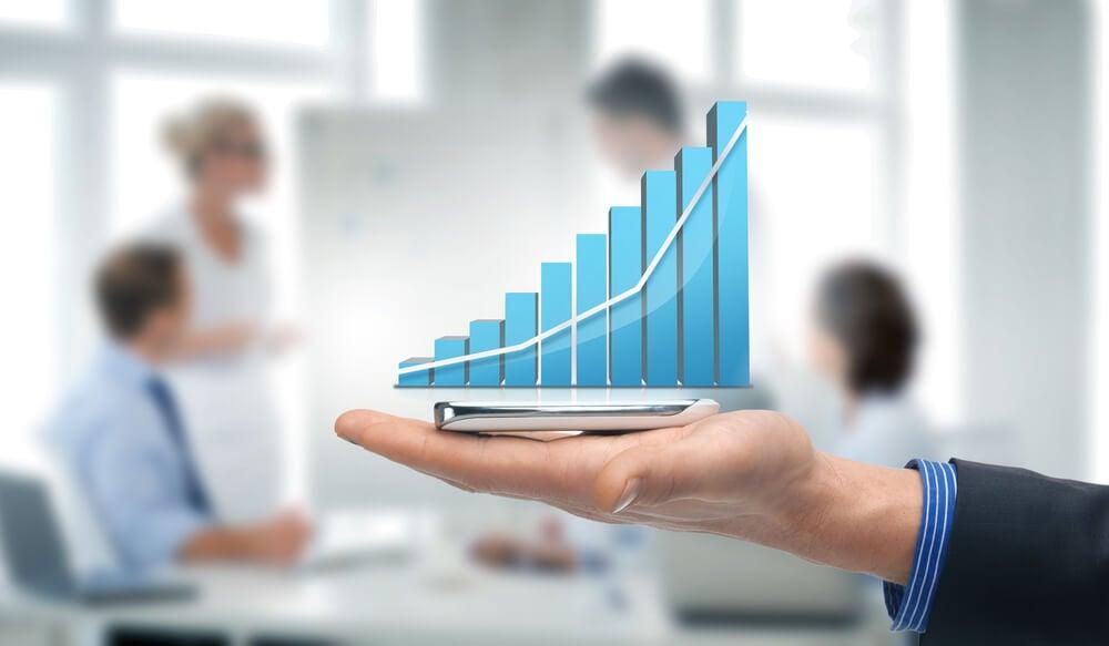 gráfico em relação a vendas