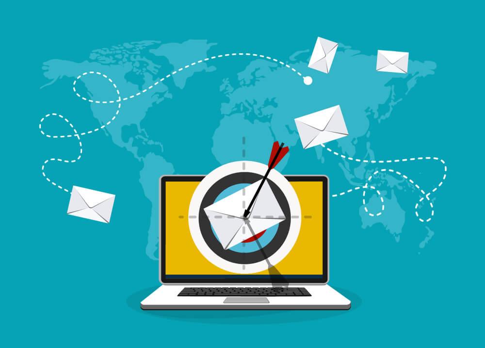 ilustração da área de email marketing no marketing digital