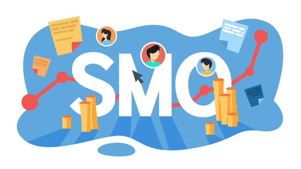 ilustração da sigla para otimização para redes sociais