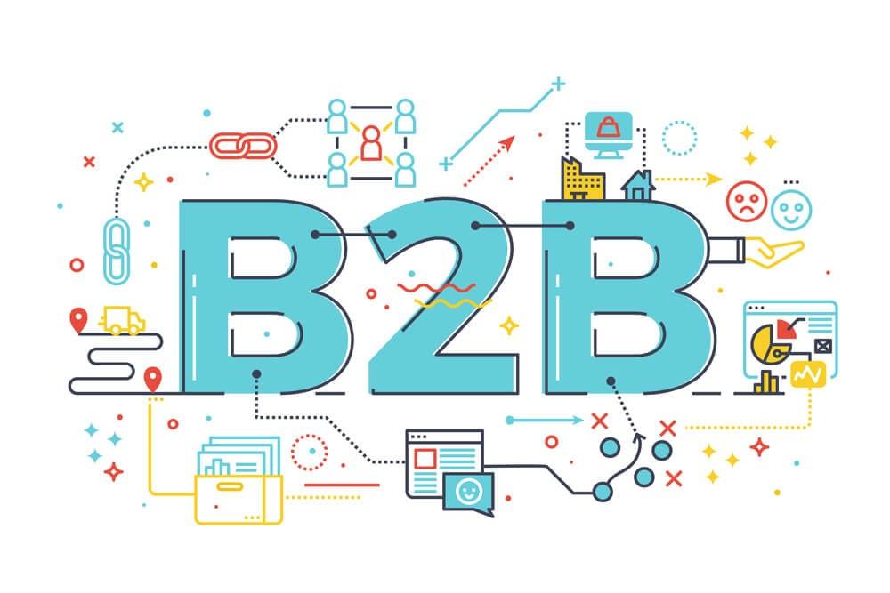 ilustração de marketing B2B
