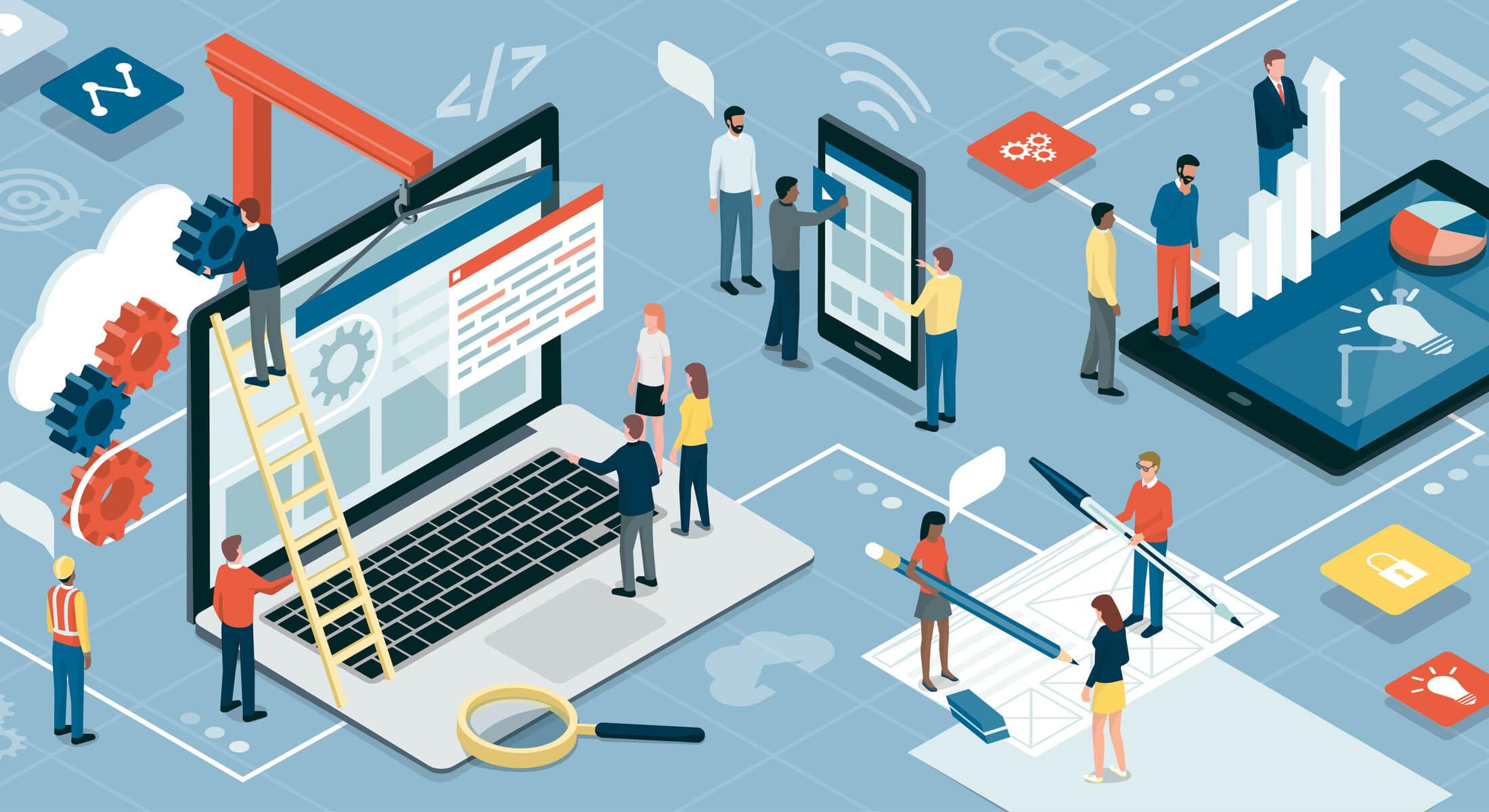 ilustração sobre comunicação empresarial