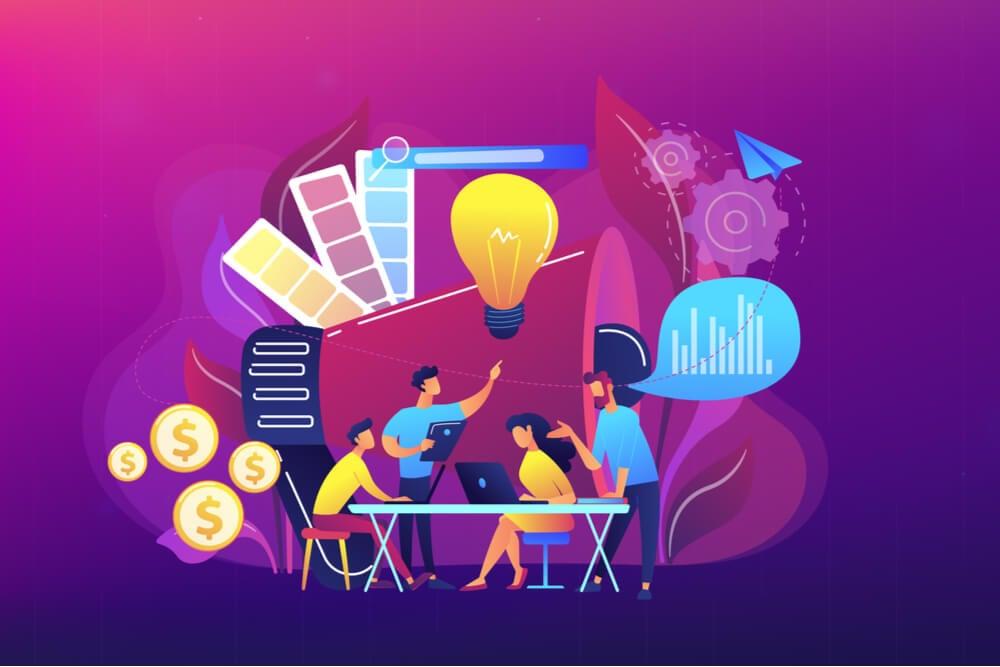 ilustração sobre criatividade no marketing