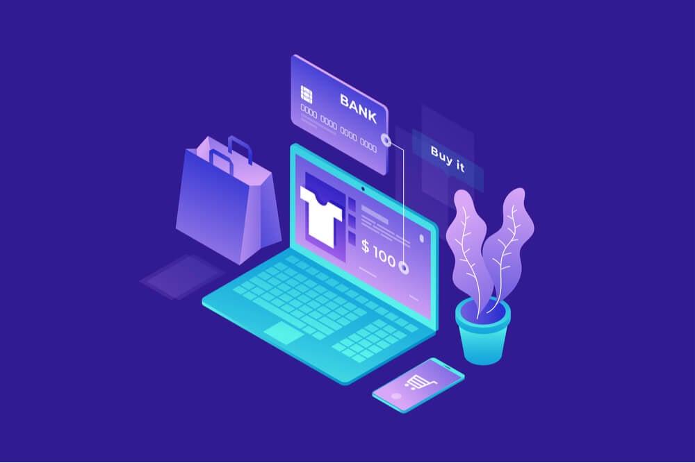 ilustração sobre e-commerce