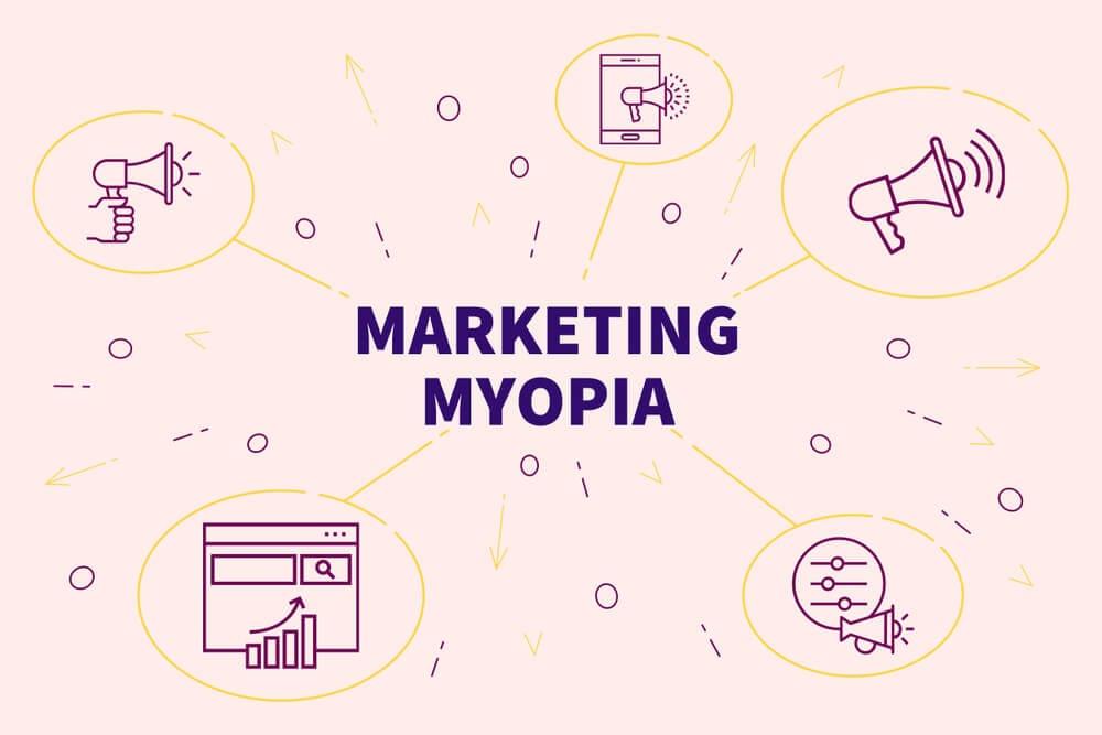 ilustracao sobre miopia de marketing