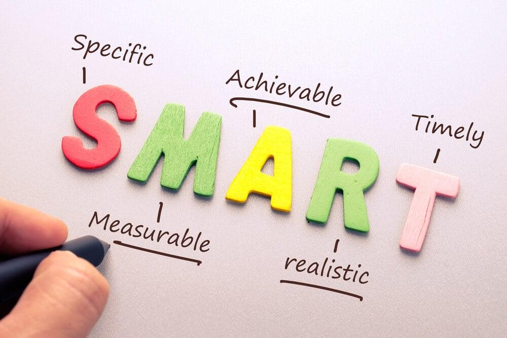 letras montando a sigla SMART e seus significados