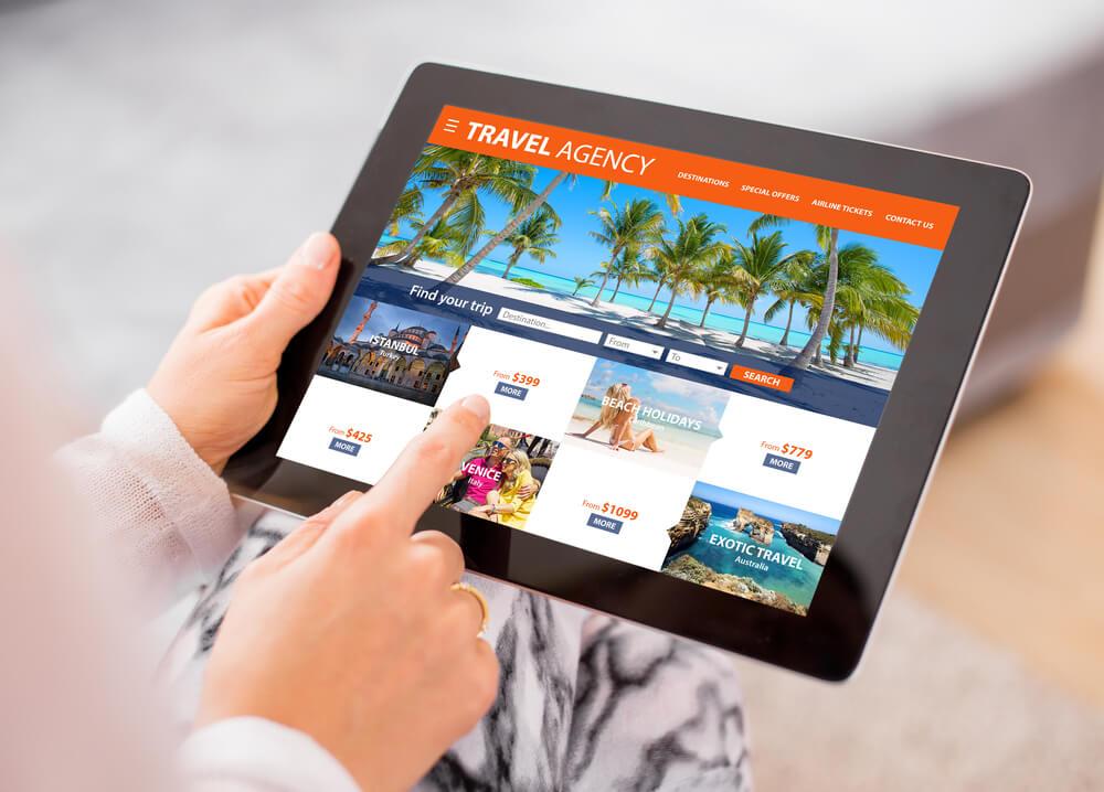 loja online de venda de pacotes de viagem
