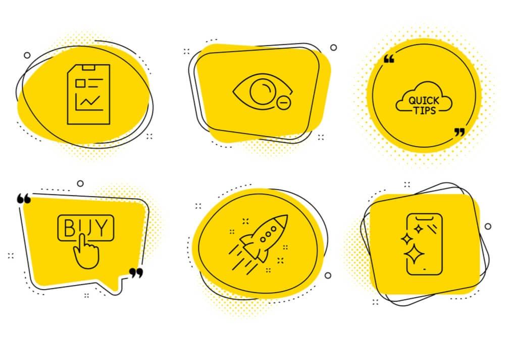 símbolos sobre marketing e vendas