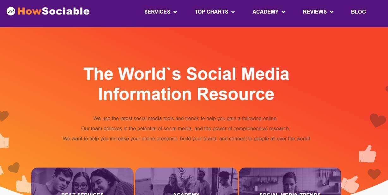 site howsociable como exemplo de ferramenta gerenciadora de redes sociais