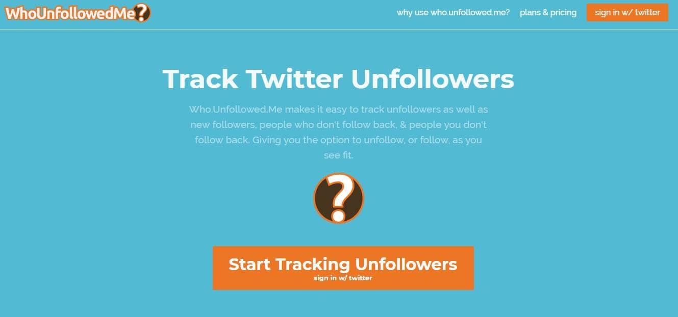 site Who's unfollowed mecomo exemplo de ferramenta gerenciador de redes sociais