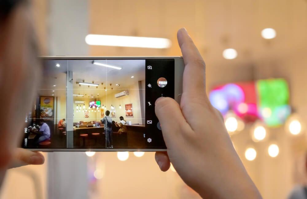 uso da grade das câmeras de smartphone