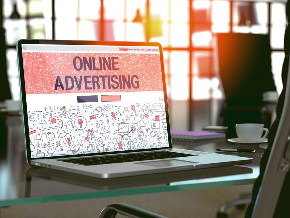 anúncios publicitários online