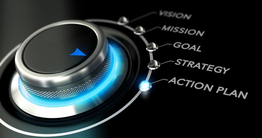 botão em etapa de plano de ação