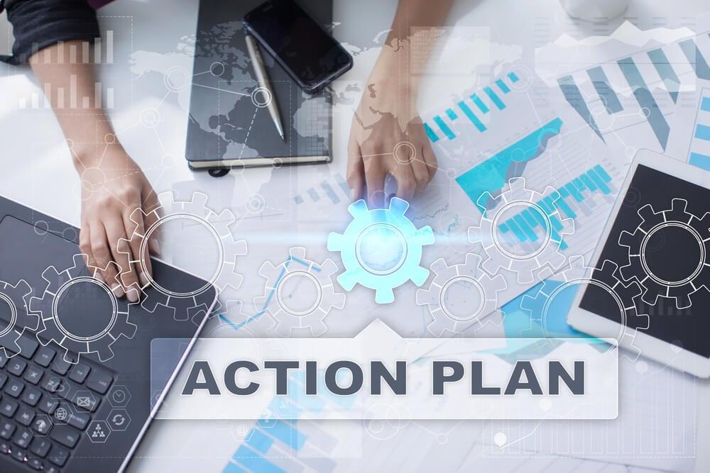 desenvolvimento de plano de ação em empresa