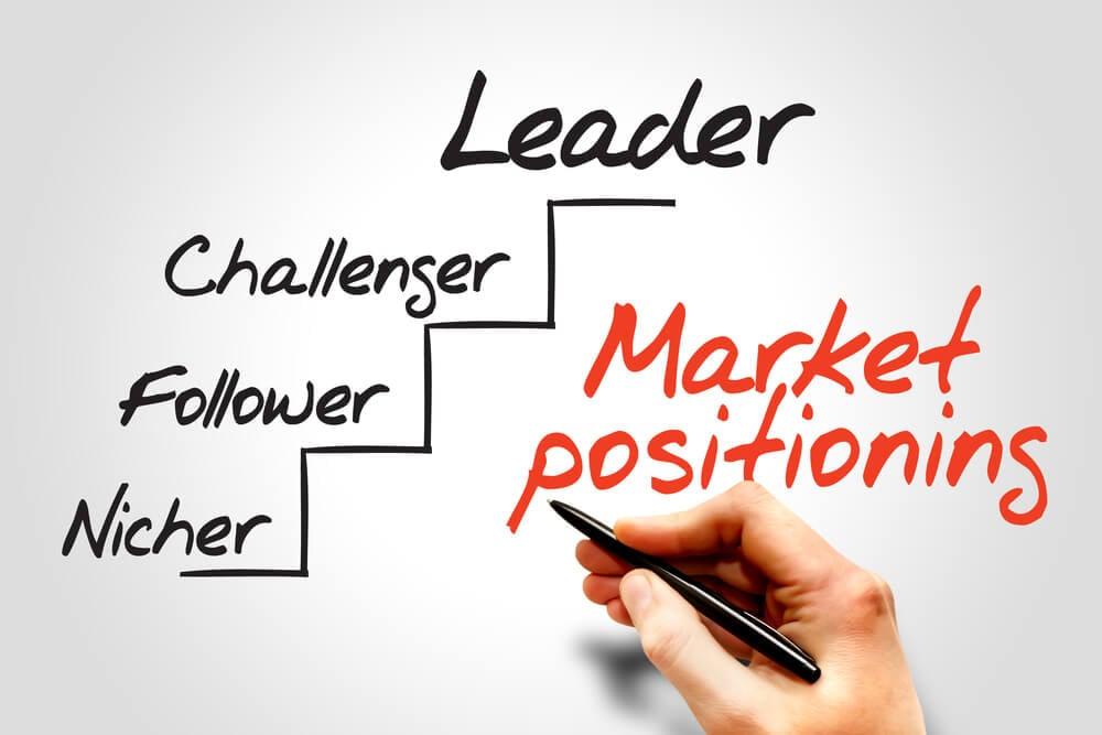 escrita sobre posicionamento de mercado e os passos para fazer um