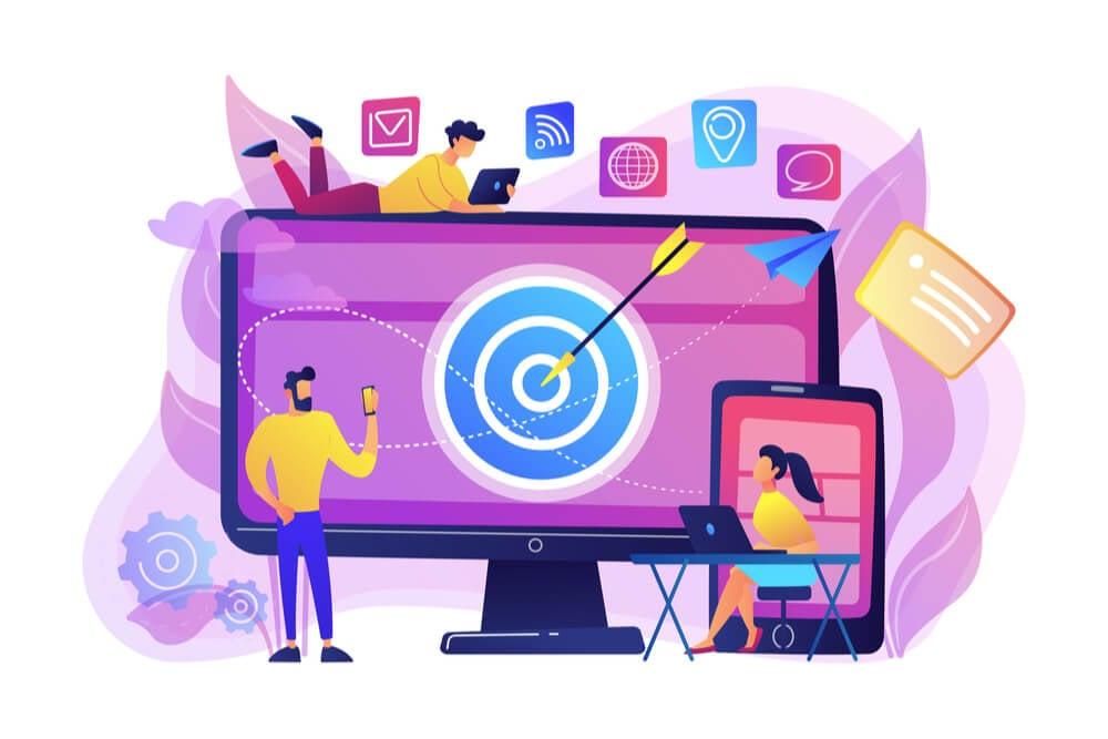 ilustração de anúncio publicitário online