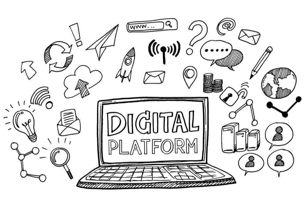 ilustração de plataformas digitais