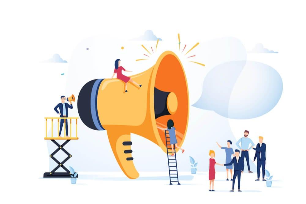 ilustração sobre anúncios digitais