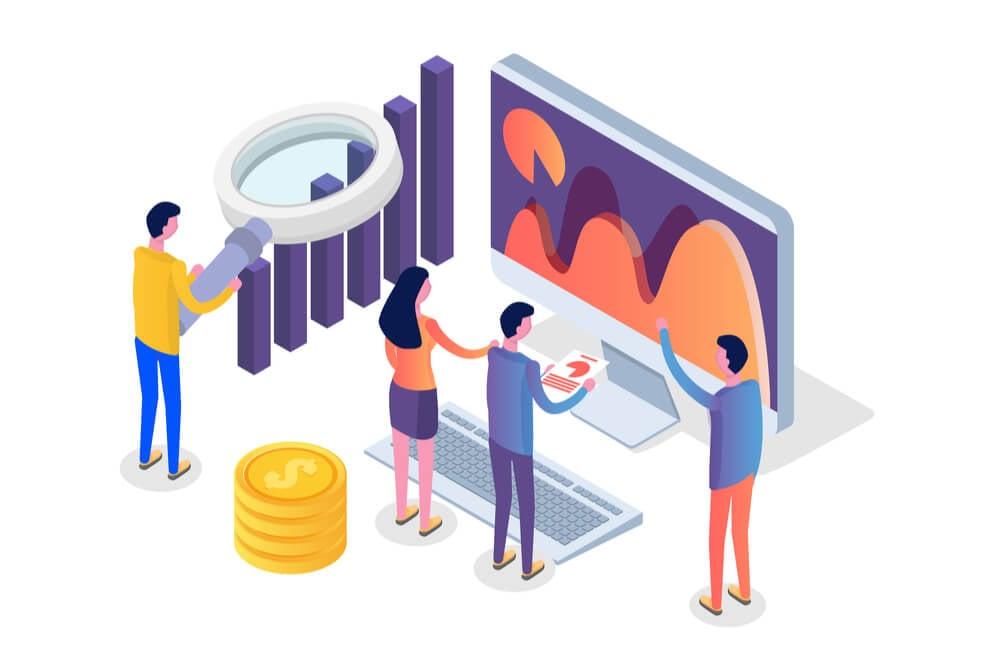 ilustração sobre dados e posicionamento de mercado