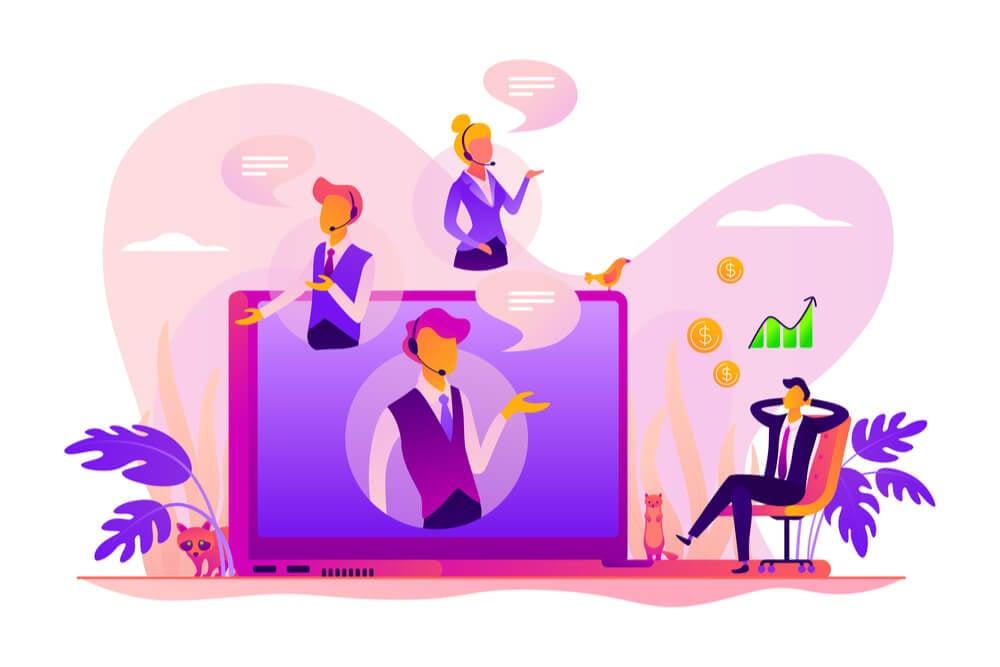ilustração sobre vendas online