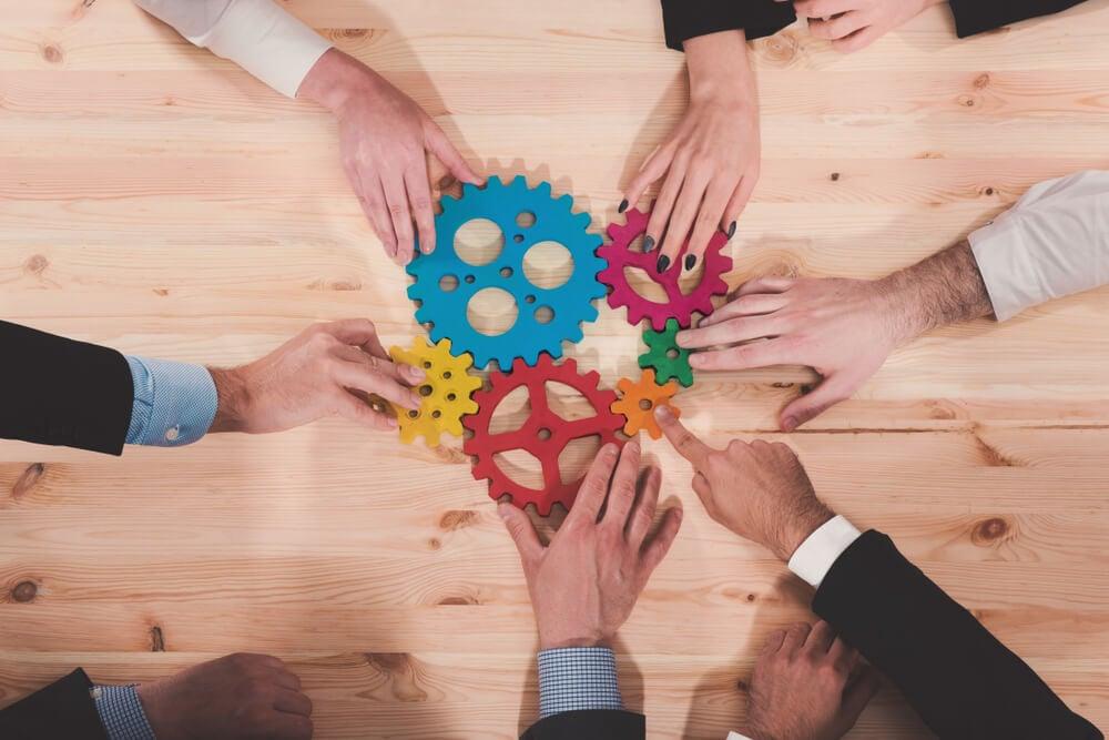 integração entre colaboradores na comunicação integrada