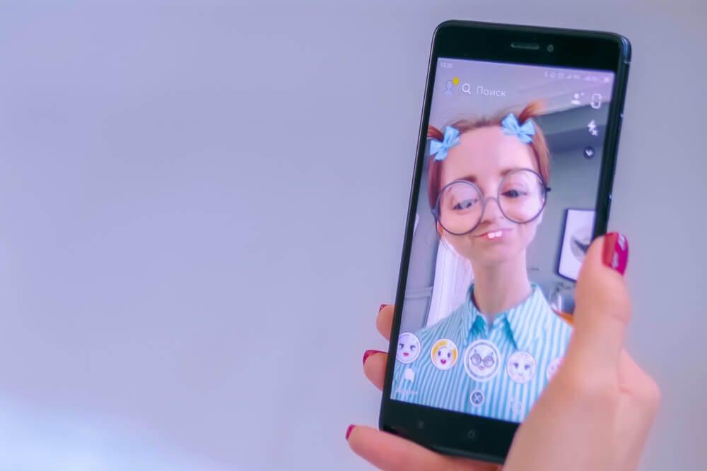 modo utilizar filtros no aplicativo snapchat