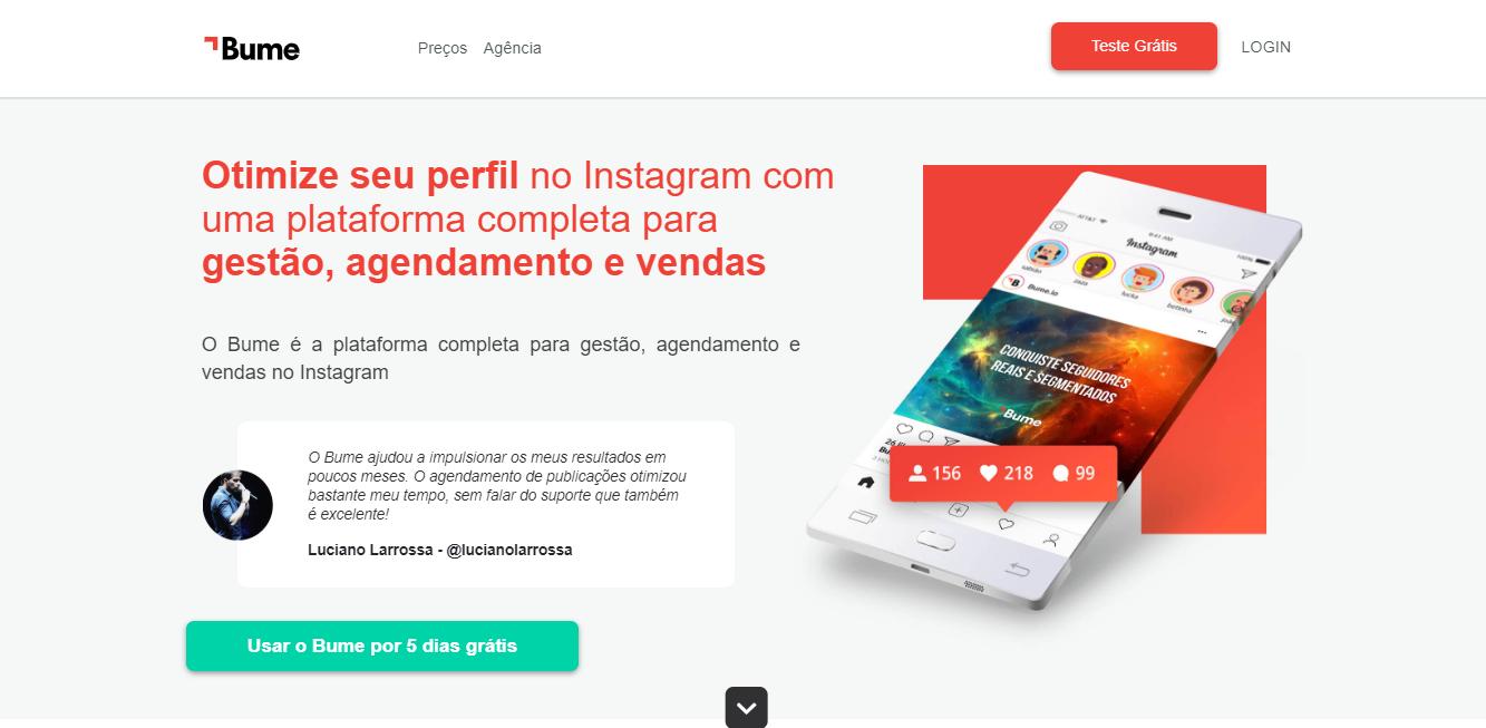 plataforma bume para automaçao de seguidores no instagram