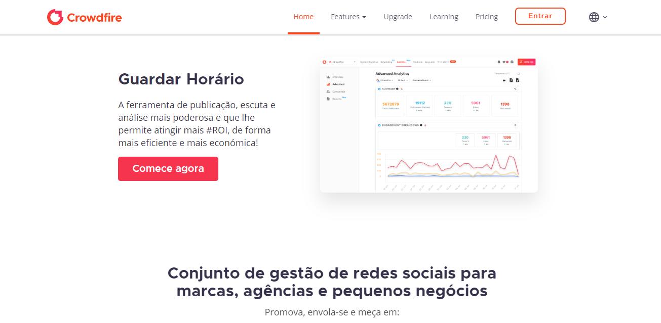 plataforma crowdfire para automaçao de analise e monitoramento no instagram