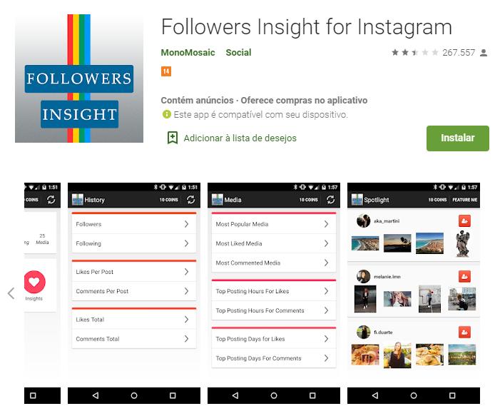 plataforma followers insight para automaçao de analise e monitoramento no instagram
