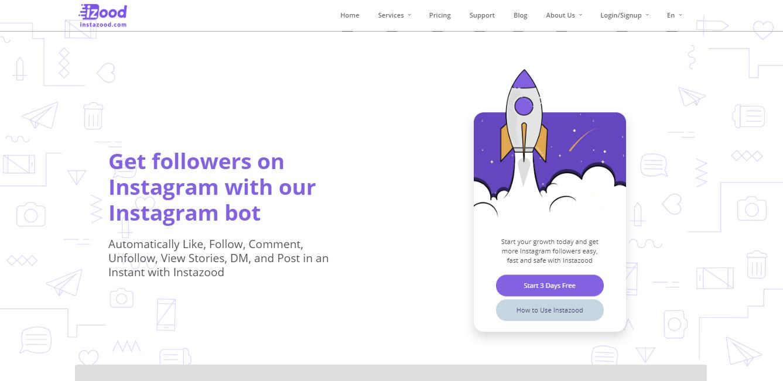 plataforma instazood para automaçao de seguidores no instagram
