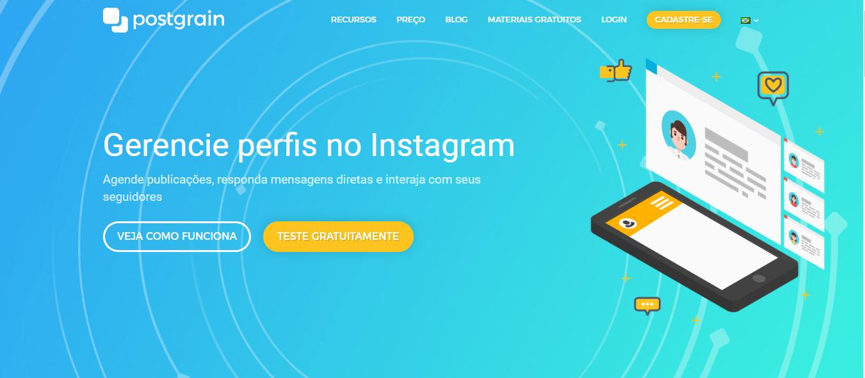 plataforma postgrain para automaçao de seguidores no instagram