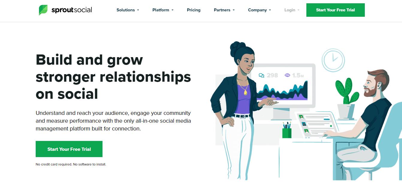 plataforma sprout social para automaçao de postagens no instagram