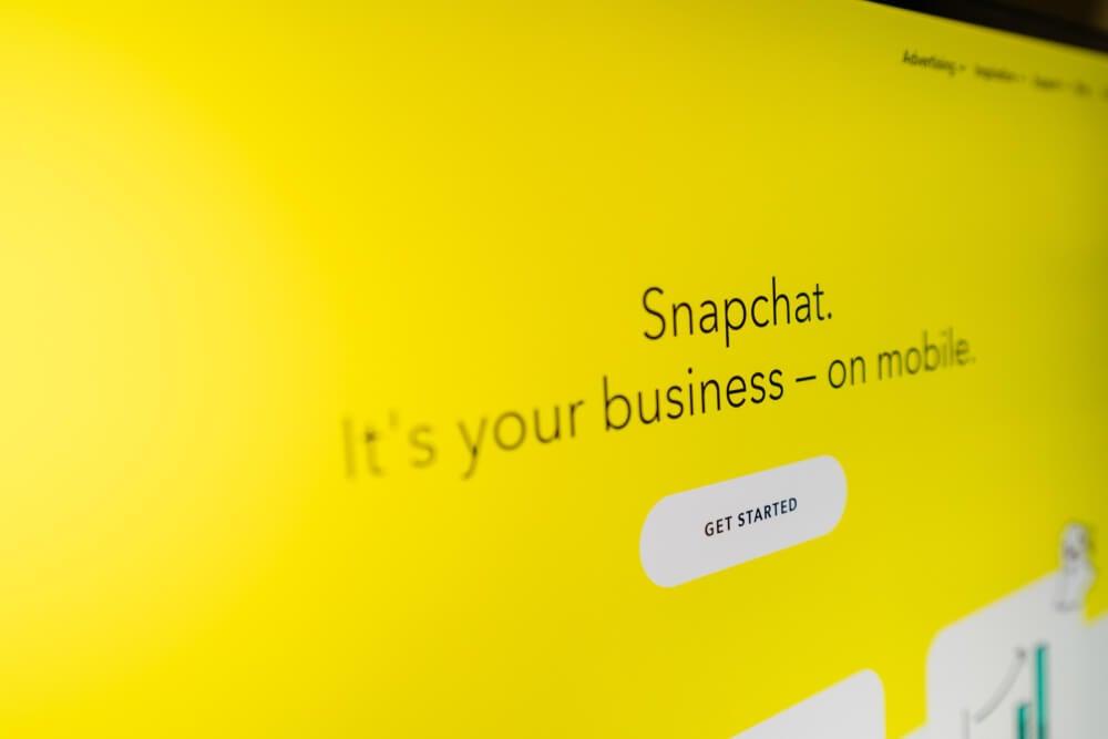 snapchat business promoçao