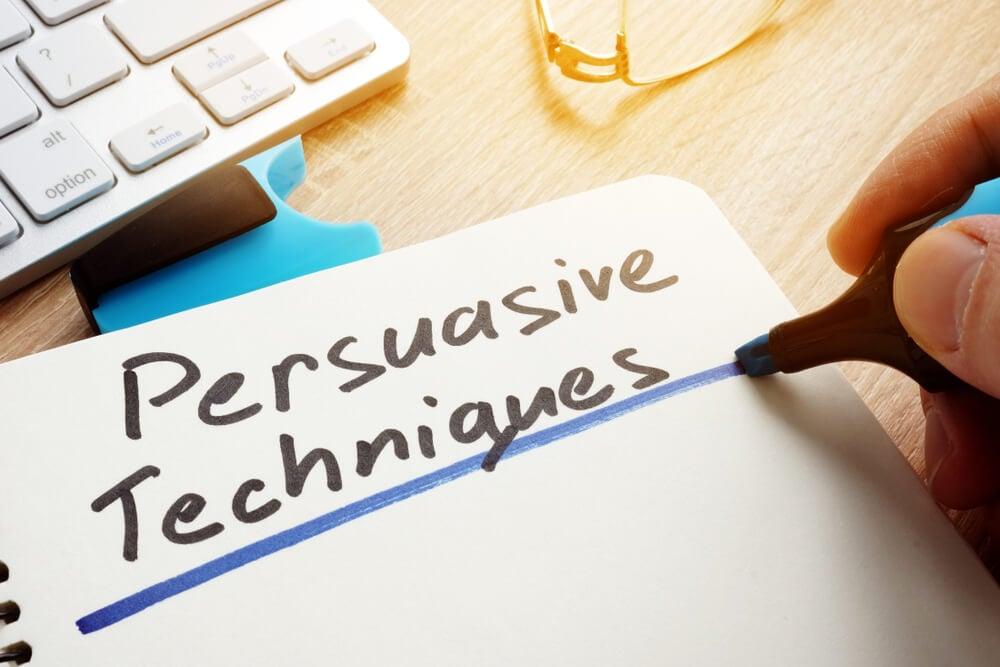 técnicas de persuasão escrita em cade4rno