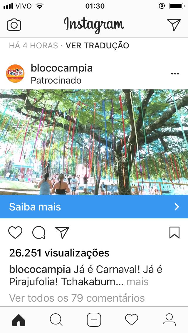 link patrocinado instagram