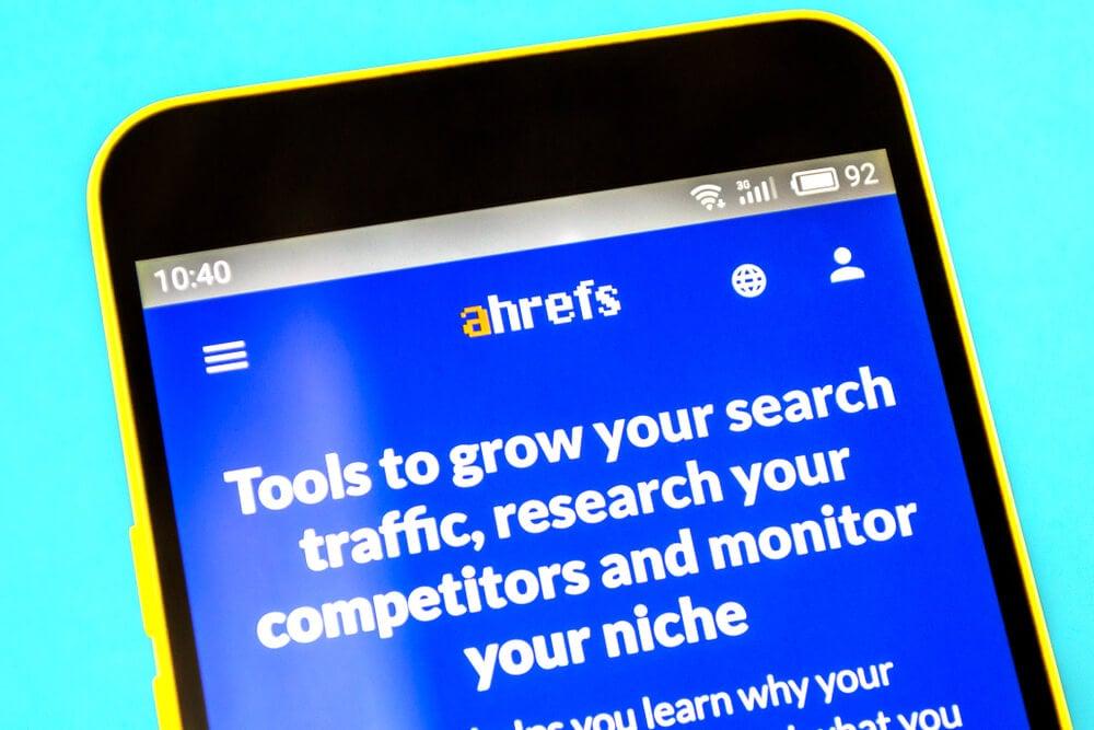 aplicativo mobile da ferramenta ahrefs