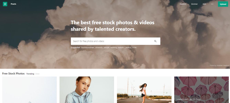 banco de vídeos pexelsx