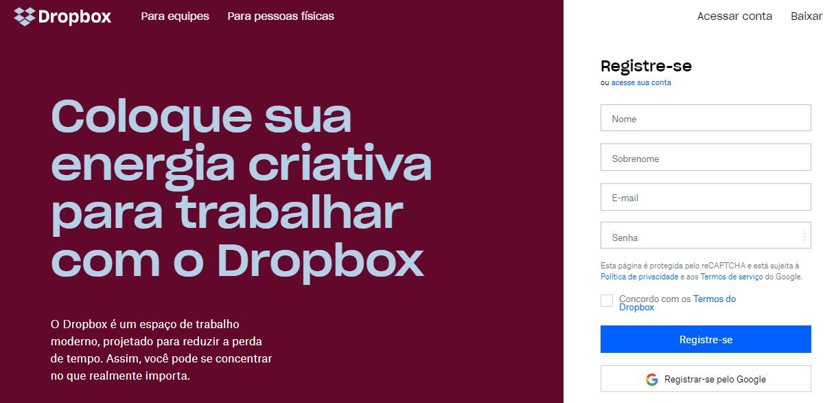 dropbox como exemplo de anúncio persuasivo