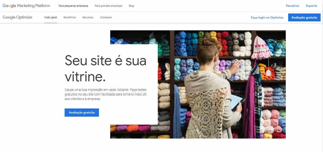 google optimize como exemplo de ferramenta de marketing digital para otimização de conversão