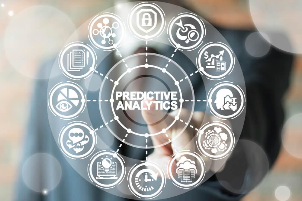 ilustração de símbolos referentes à análise preditiva