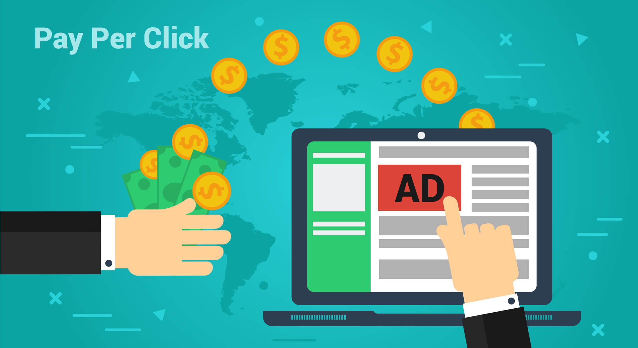 ilustração sobre pay per click no tráfego pago