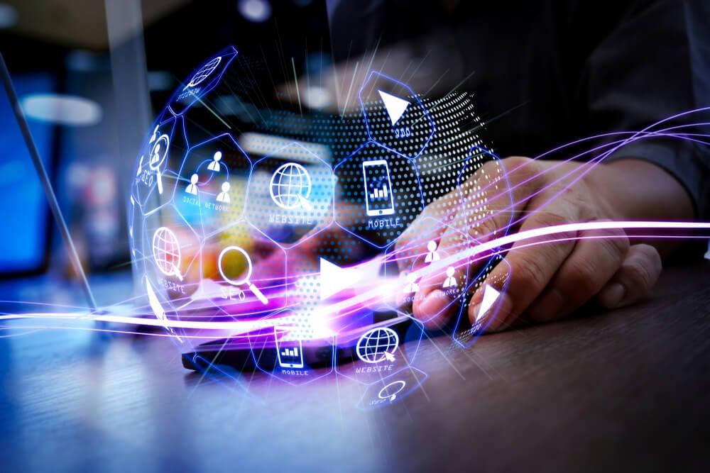 negócios de mercado digital