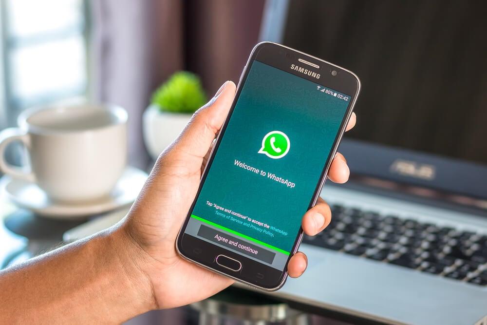 pagina inicial ao criar uma conta no aplicativo whatsapp