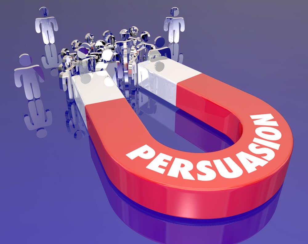 persuasão nos anúncios de vendas